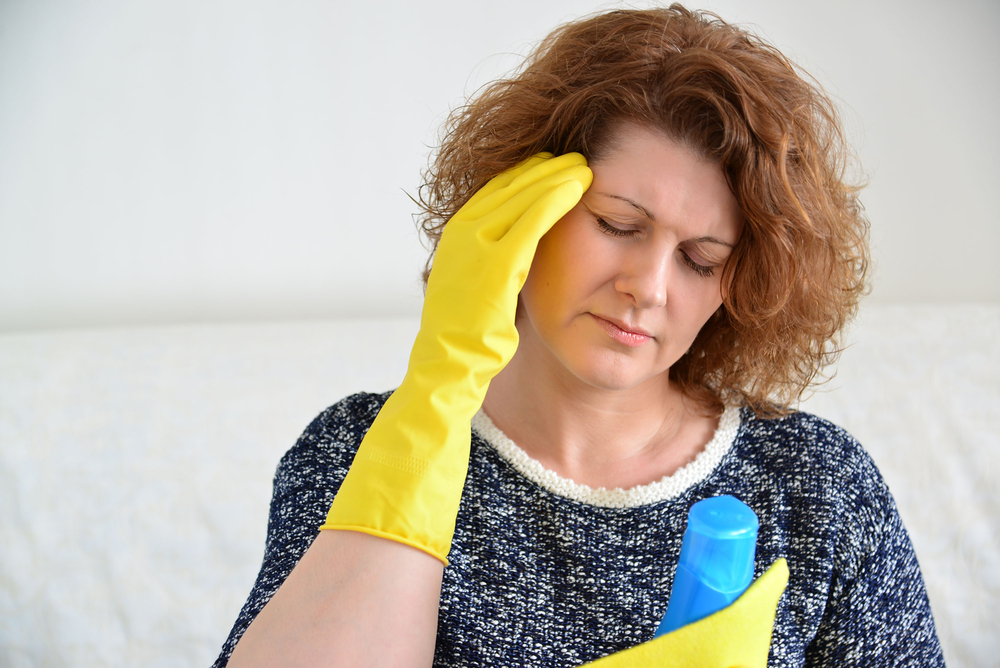 migraines when cleaning